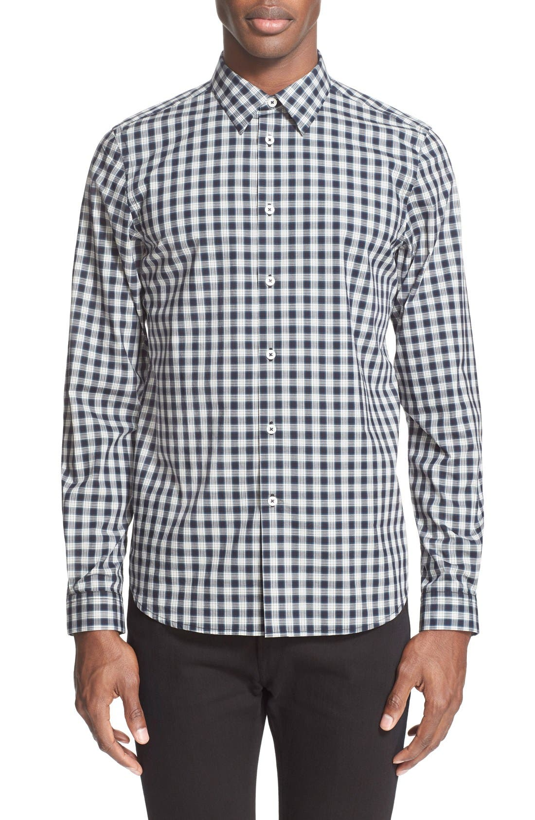 PS PAUL SMITH Extra Trim Fit Plaid Sport