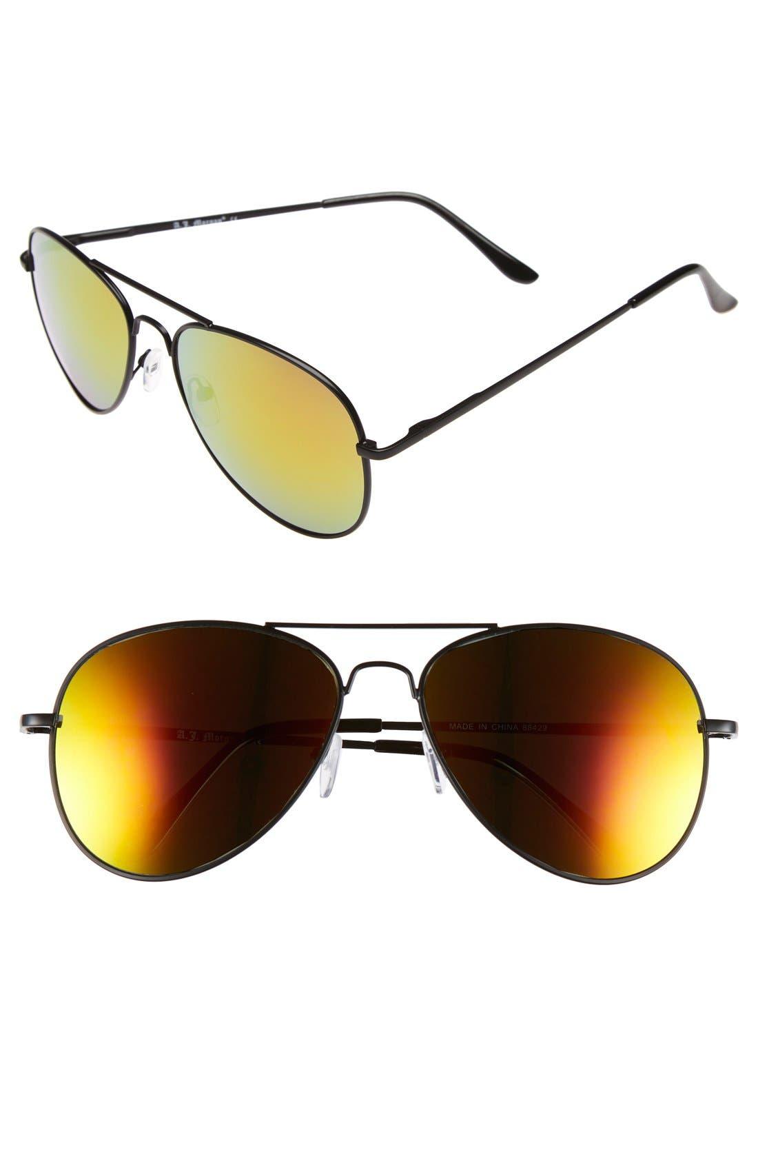 Main Image - A.J. Morgan 'Skyline' 58mm Aviator Sunglasses