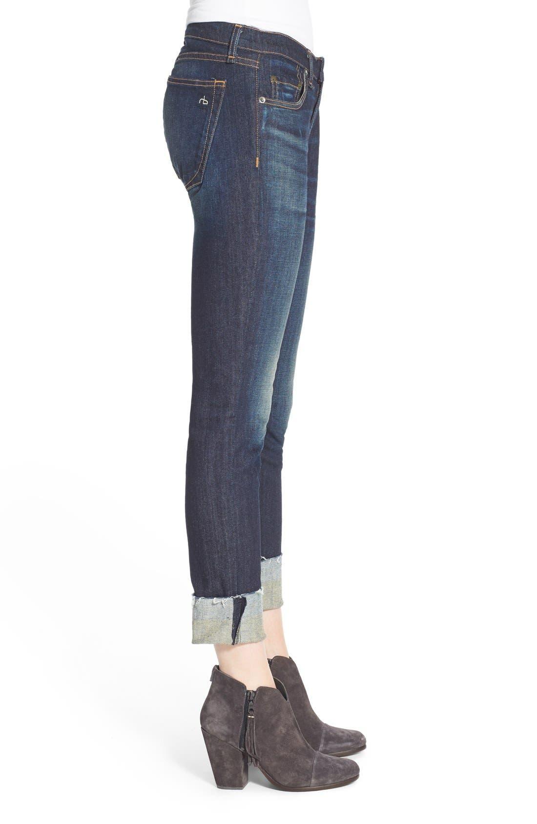 Alternate Image 4  - rag & bone/JEAN 'The Dre' Slim Fit Boyfriend Jeans (Yesler)
