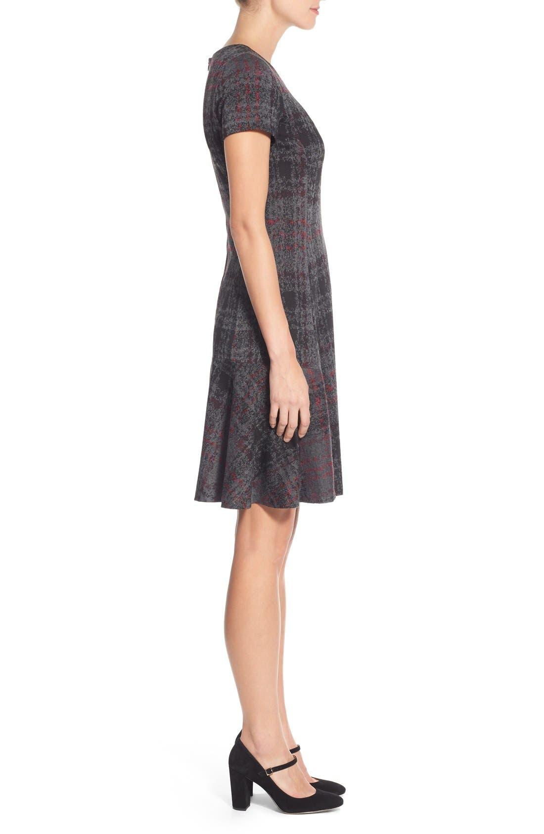 Alternate Image 3  - Betsey Johnson Print Ponte Fit & Flare Dress