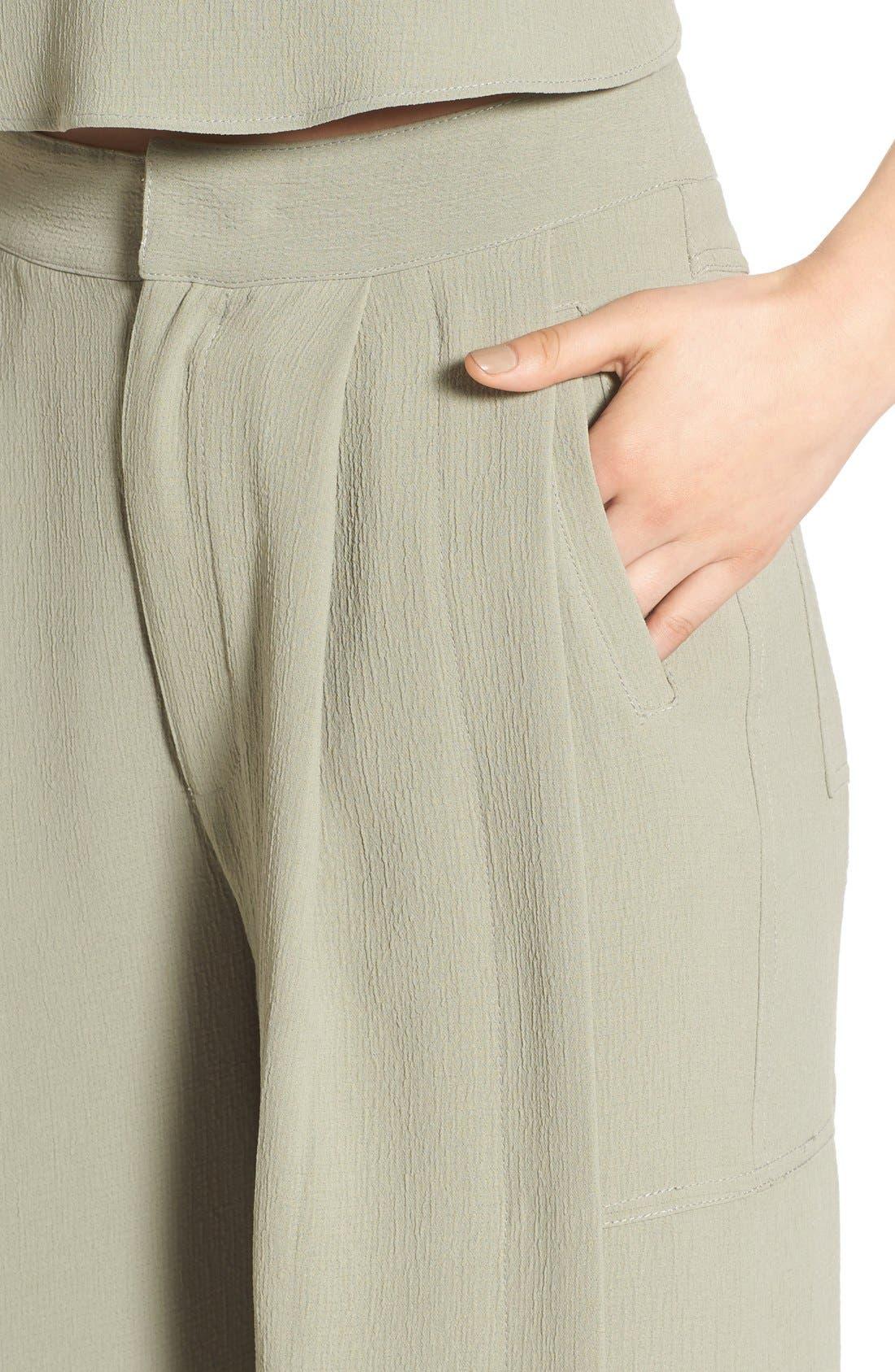 Alternate Image 5  - KENDALL + KYLIE High Waist Wide Leg Crop Pants