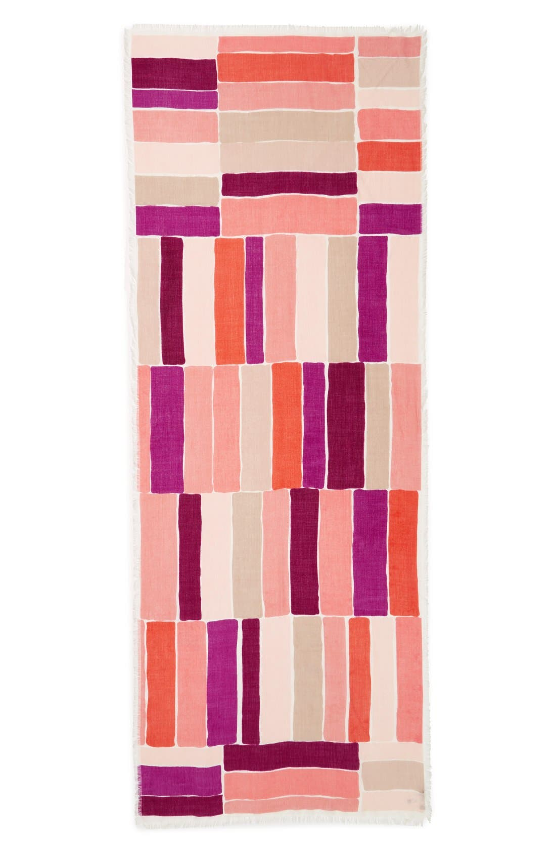 Alternate Image 2  - Nordstrom Stripe Cashmere & Silk Scarf