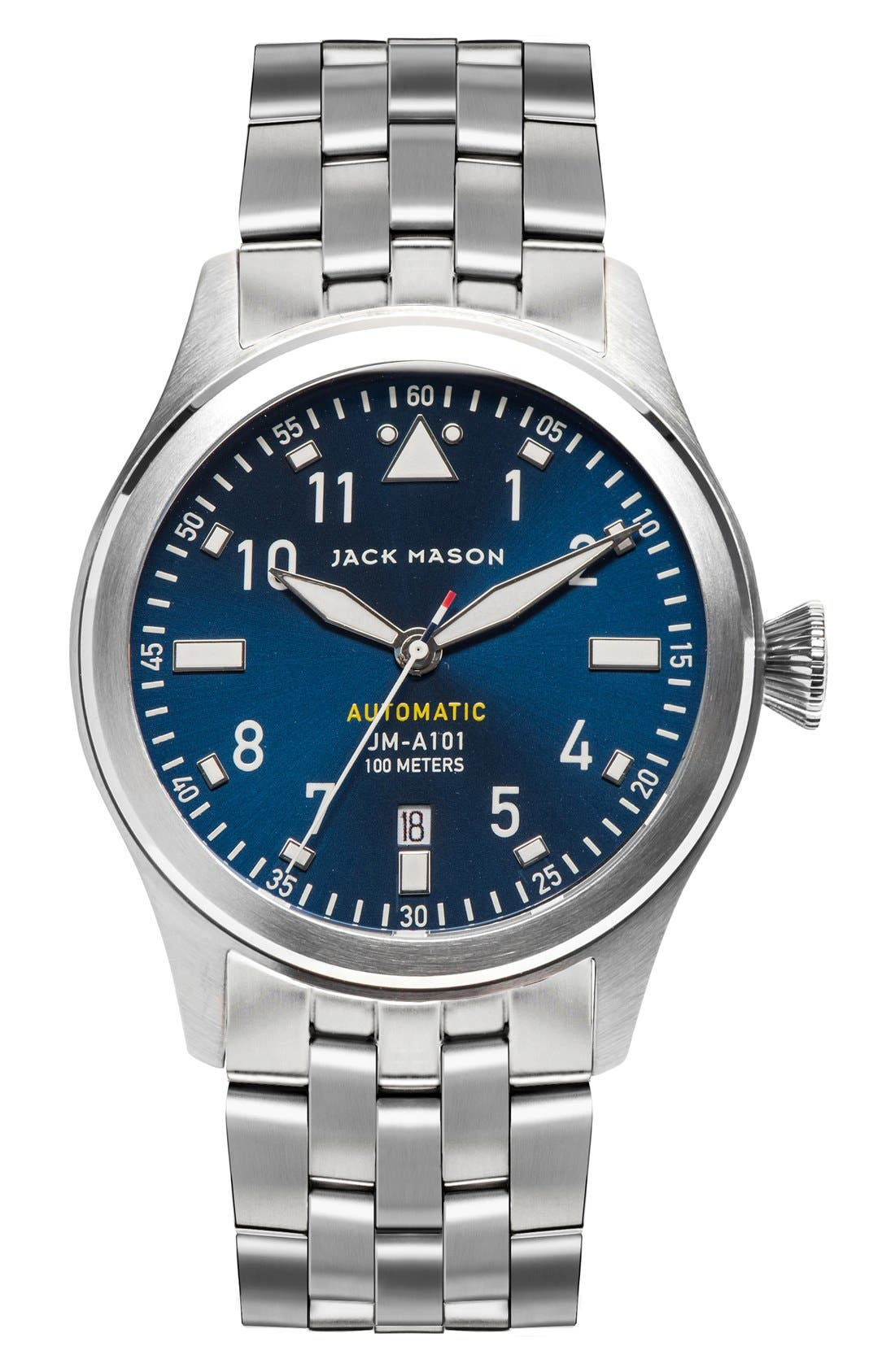 JACK MASON Automatic Bracelet Watch, 42mm