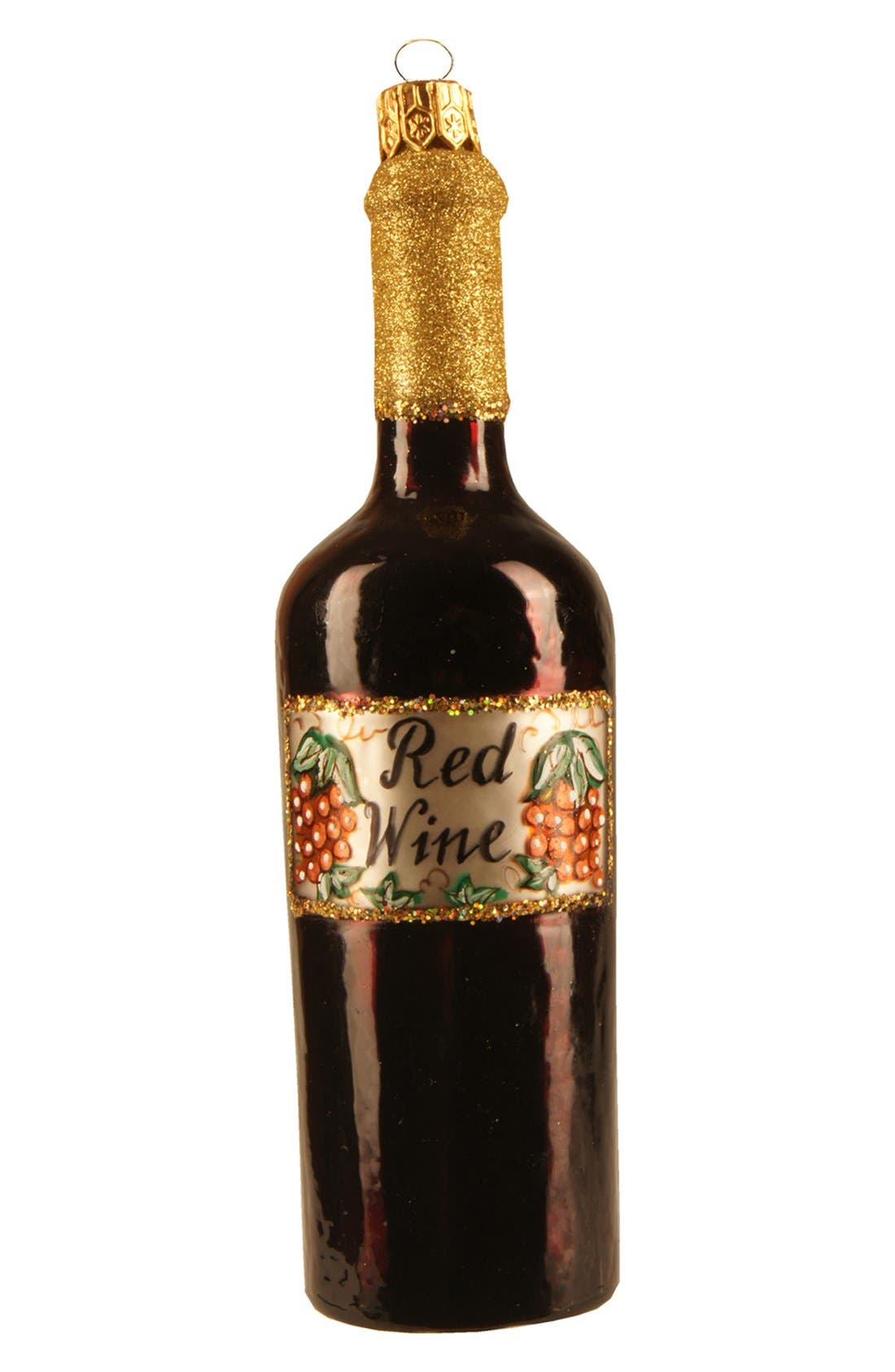 Main Image - Nordstrom at Home 'Wine Bottle' Handblown Glass Ornament