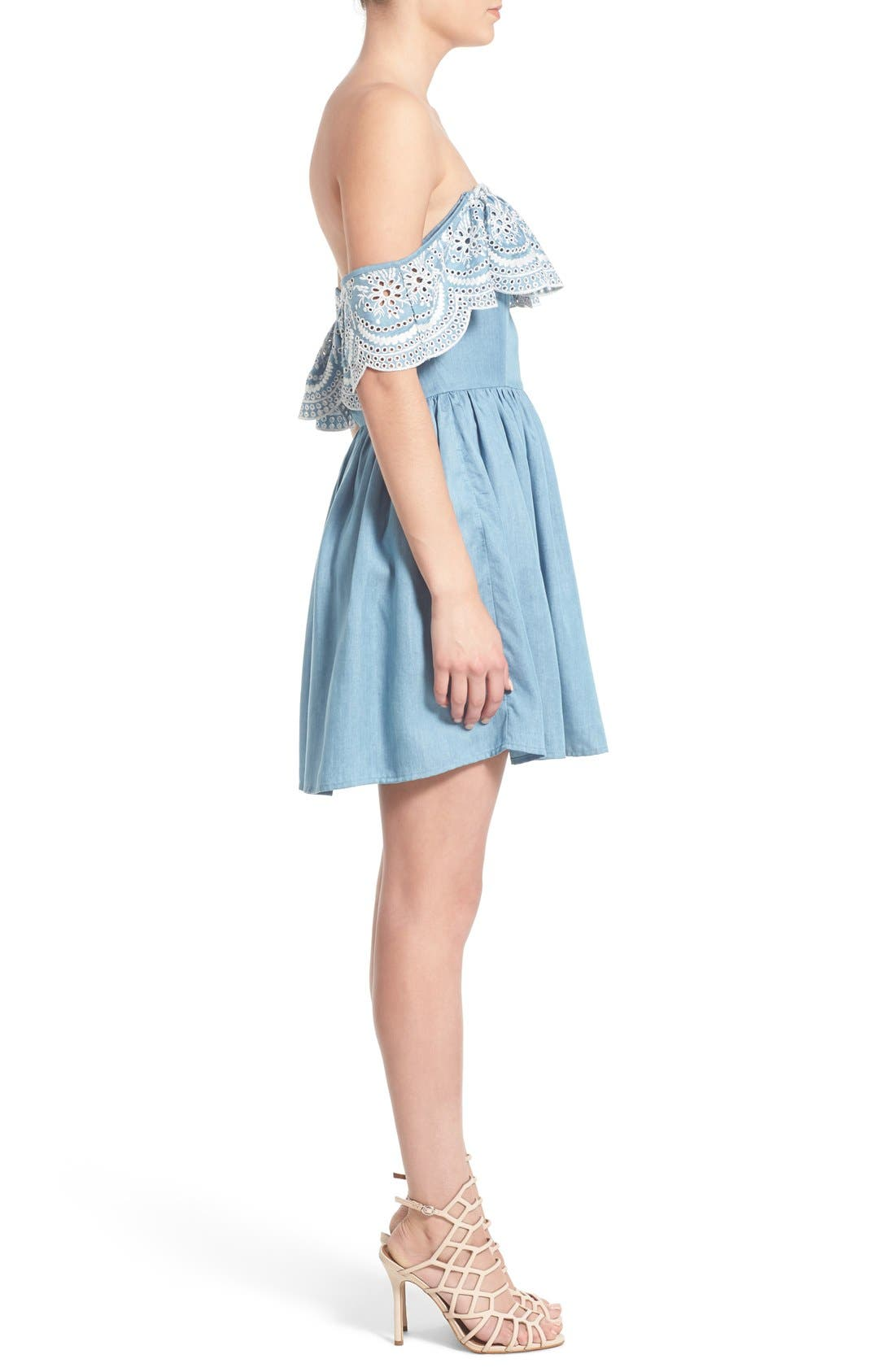 Alternate Image 4  - Lovers + Friends 'Dream Vacay' Off the Shoulder Fit & Flare Dress