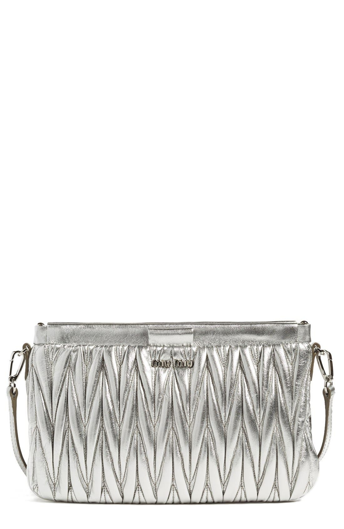MIU MIU Small Matelassé Leather Clutch