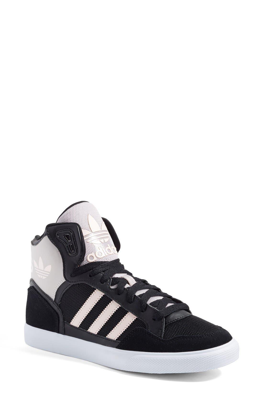 Alternate Image 1 Selected - adidas 'Extaball' High Top Sneaker (Women)
