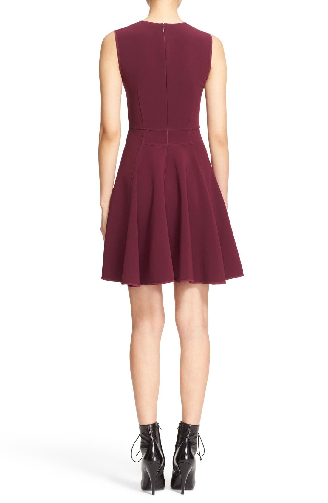 Alternate Image 2  - Rebecca Taylor Seam Detail Sleeveless Fit & Flare Dress