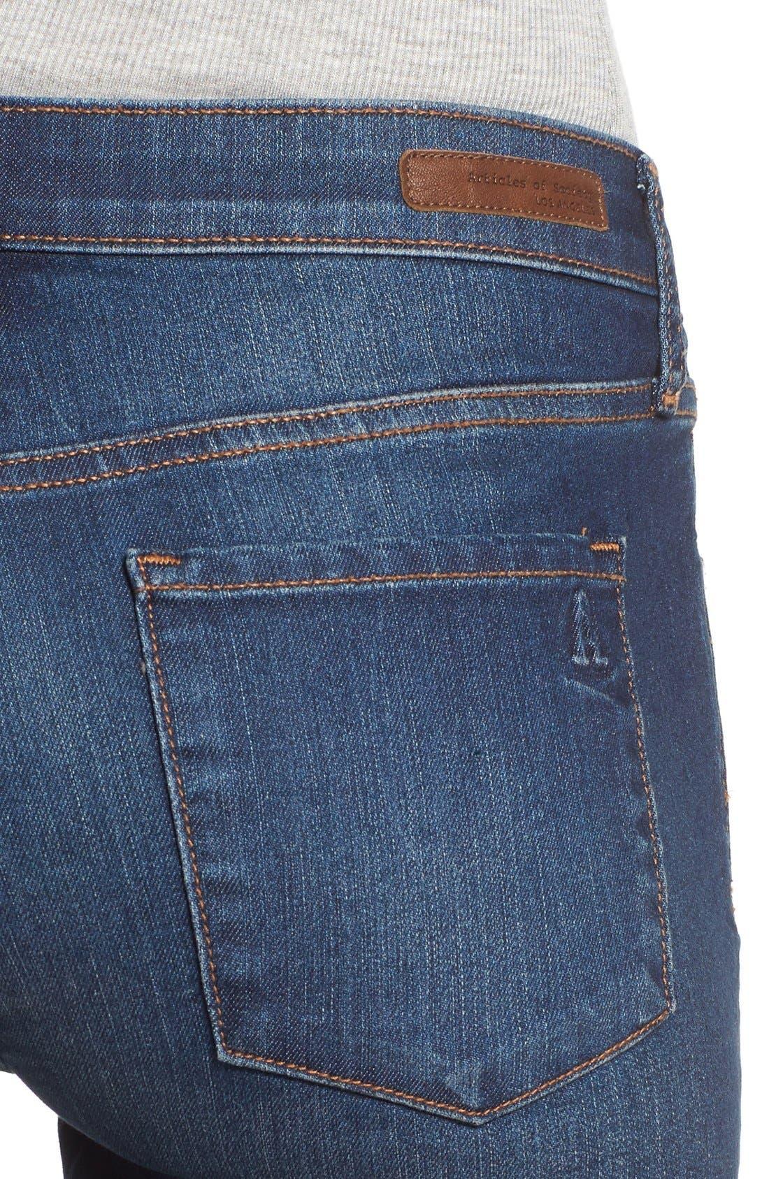 Alternate Image 5  - Articles of Society 'Mya' Skinny Jeans (Americana)