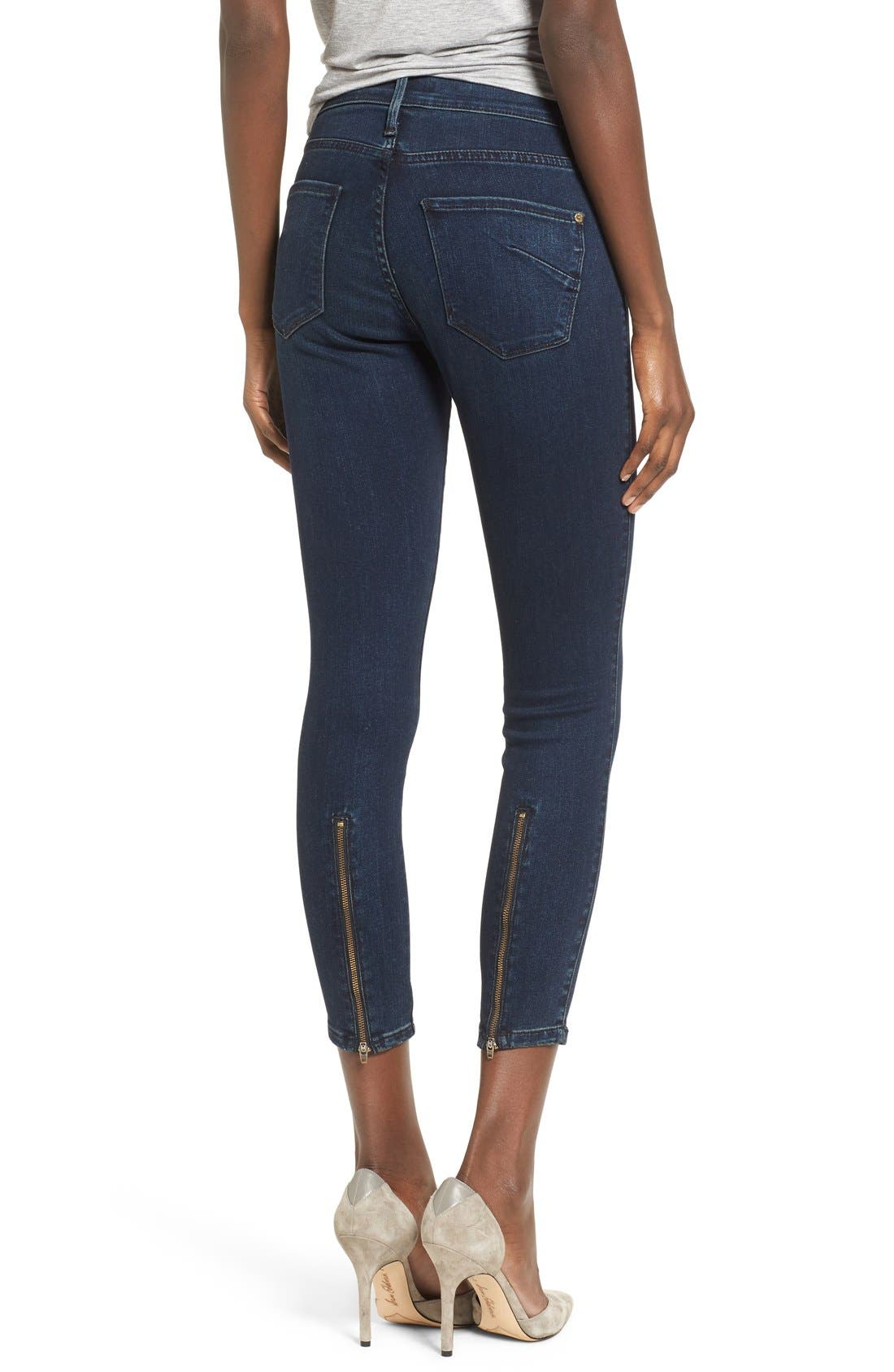 Alternate Image 2  - James Jeans Ankle Zip Skinny Jeans