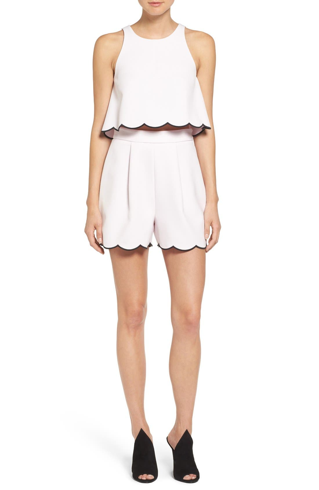 Alternate Image 2  - KENDALL + KYLIE Scallop Hem High Waist Shorts