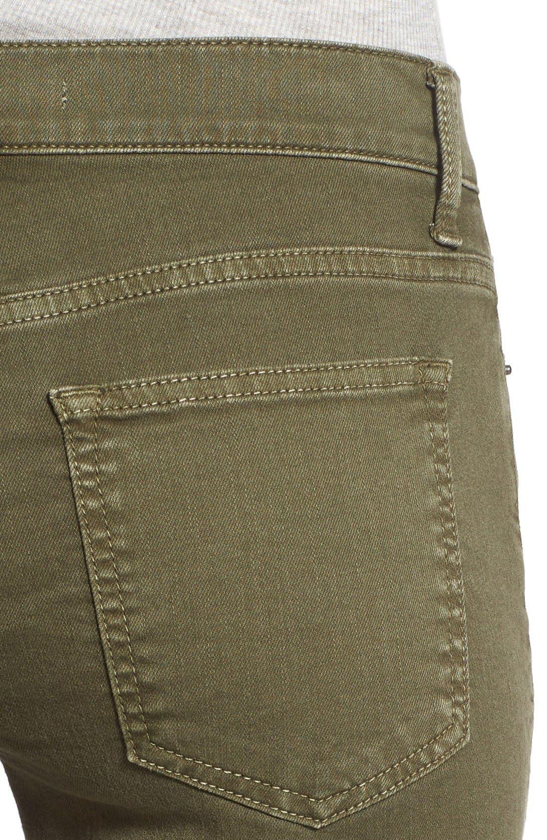 Alternate Image 4  - SP Black Stretch Cotton Skinny Jeans