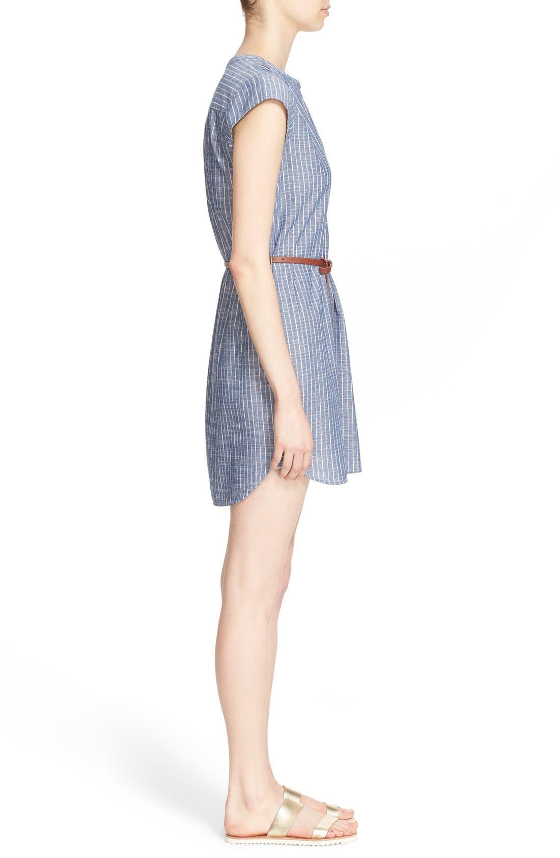 Alternate Image 3  - Joie 'Neha' Belted Cotton Split Neck Shirtdress