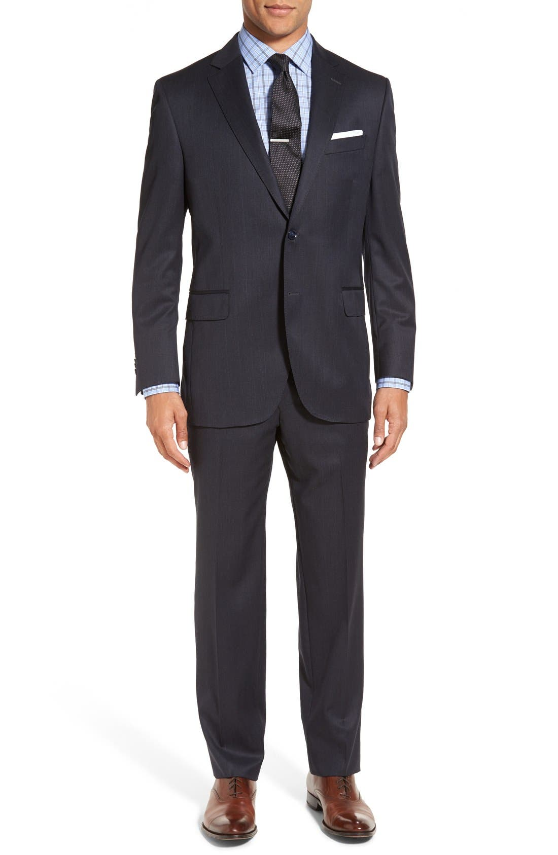 PETER MILLAR 'Flynn' Classic Fit Plaid Wool Suit