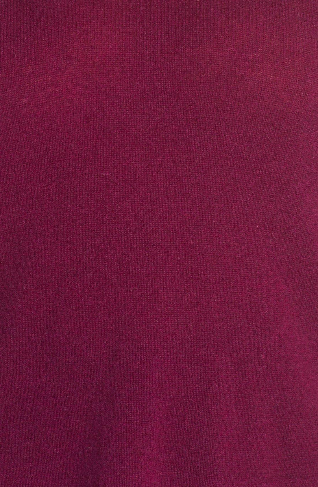 Alternate Image 6  - Halogen® V-Neck Cashmere Sweater (Plus Size)