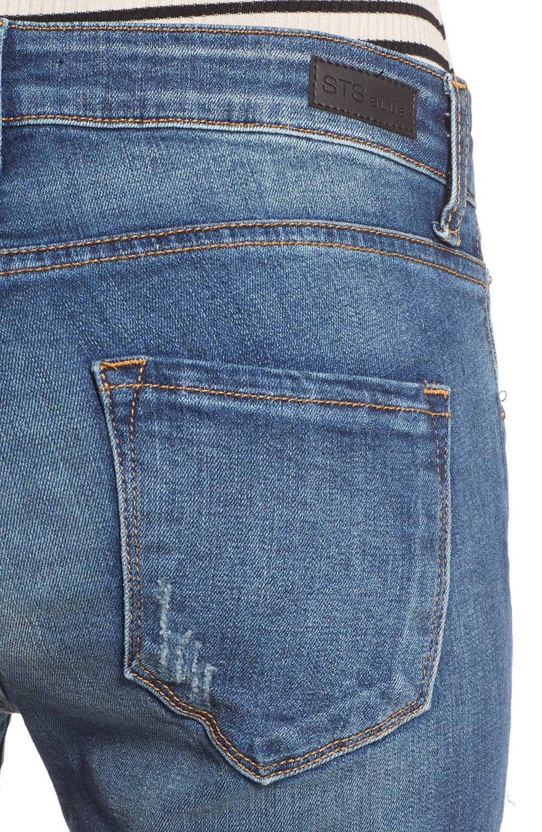 Alternate Image 4  - STS Blue 'Taylor Tomboy' Distressed Boyfriend Jeans (West San Clement)