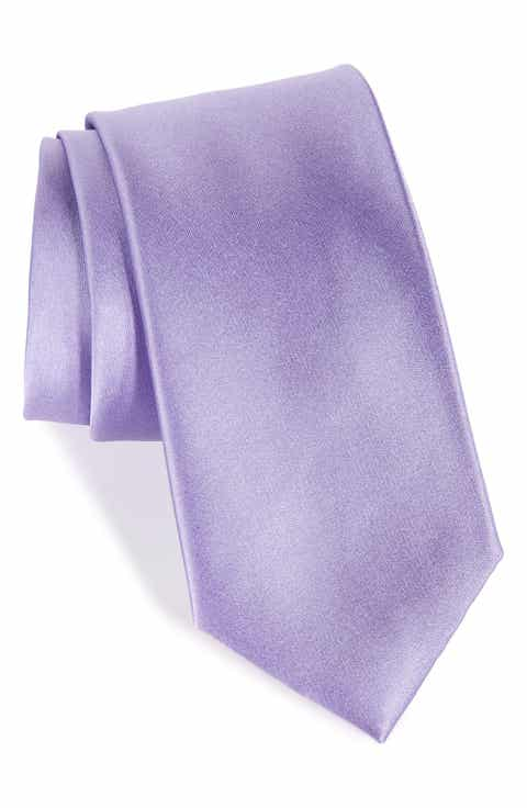 Nordstrom Men's Shop Solid Satin Silk Tie (X-Long)