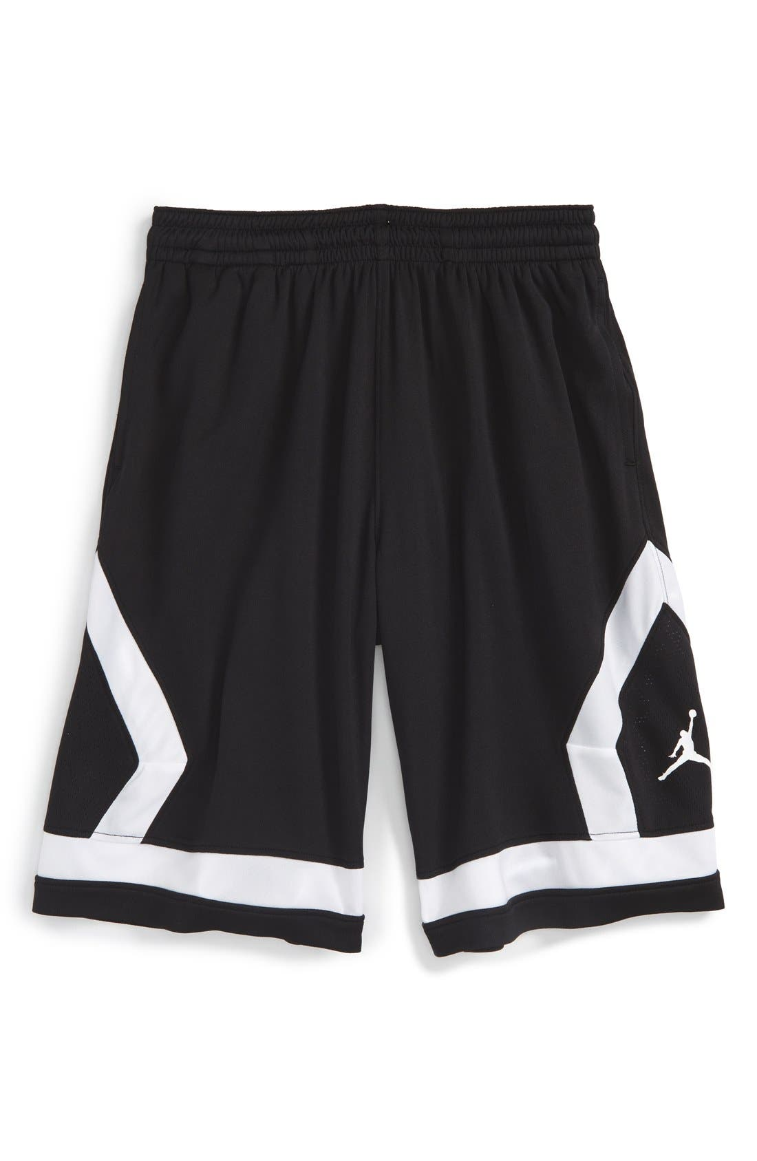 Jordan 'Flight Diamond' Knit Basketball Shorts (Big Boys)