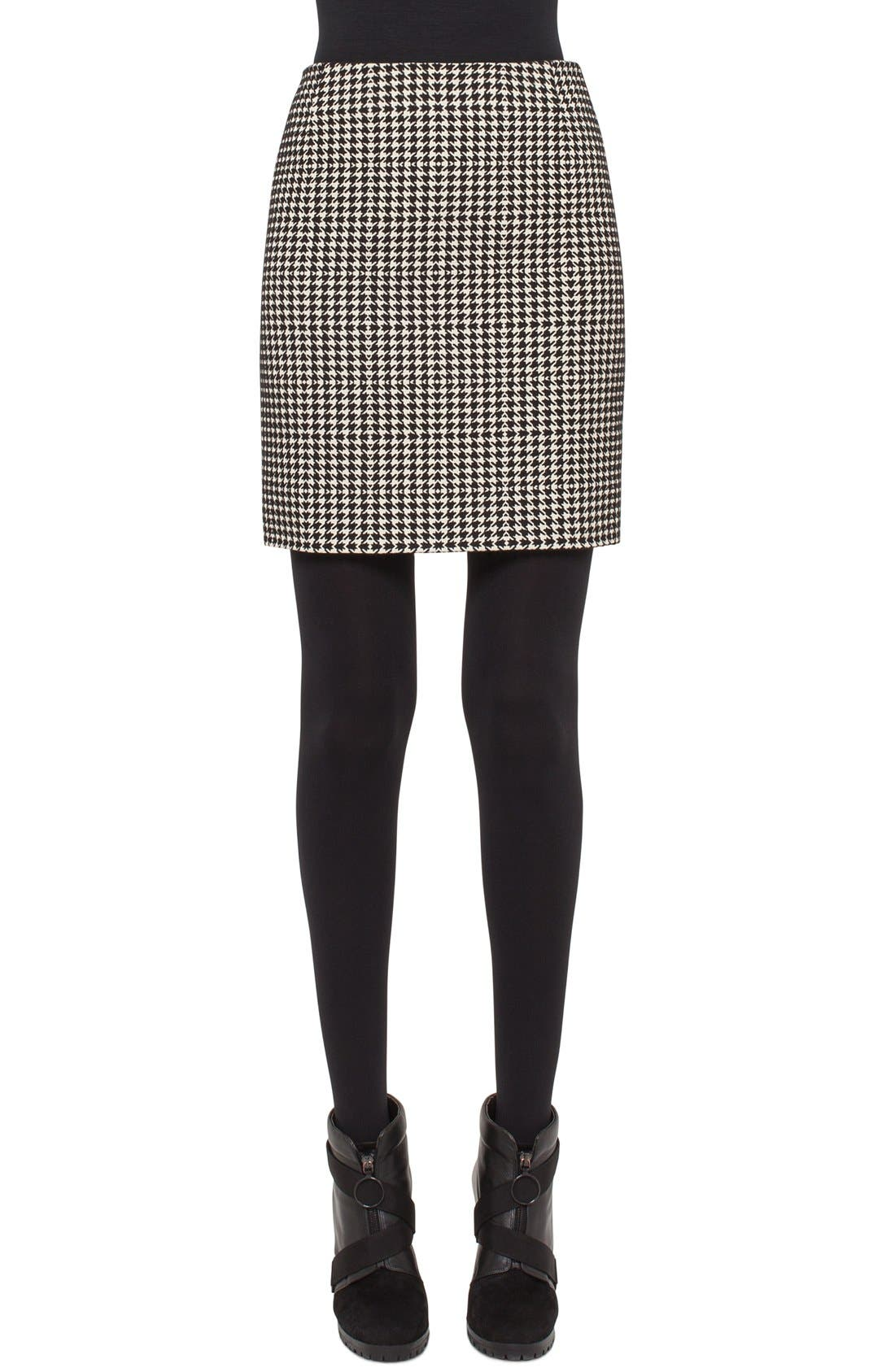 Alternate Image 1 Selected - Akris punto Houndstooth Miniskirt