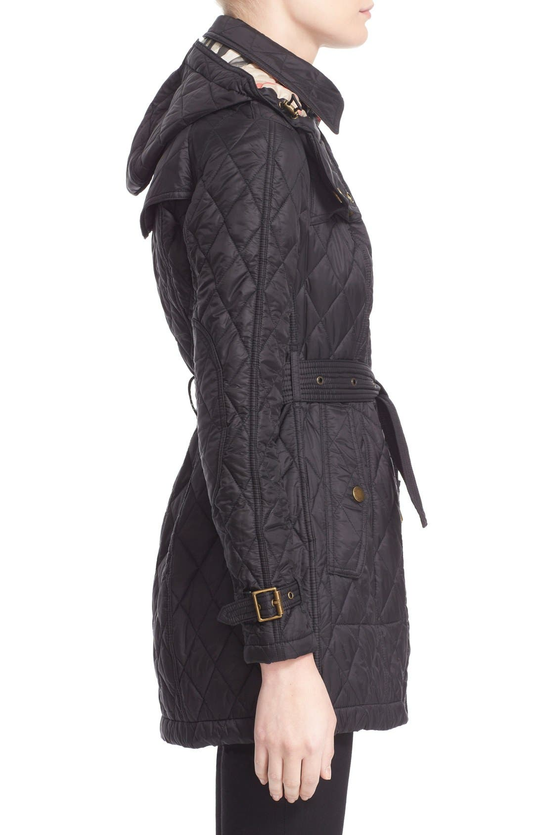 Alternate Image 5  - Burberry Finsbridge Belted Quilted Jacket