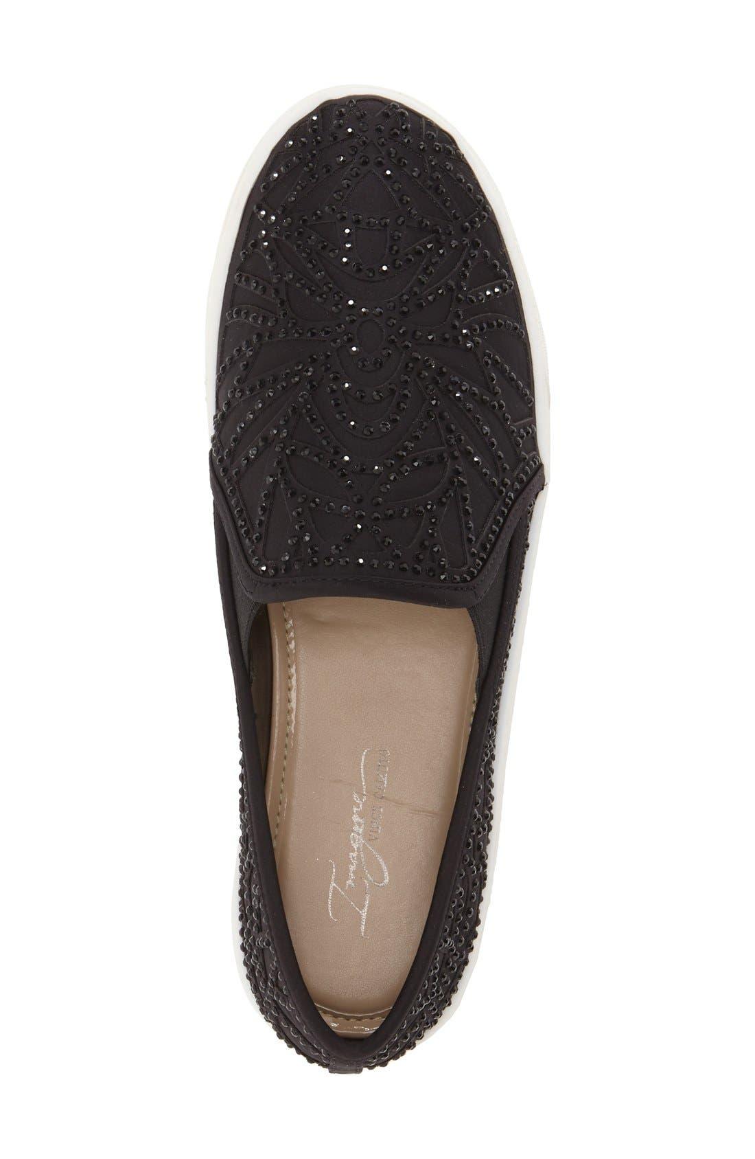 Alternate Image 3  - Vince Camuto 'Imagine Serena' Crystal Embellished Slip-On Sneaker (Women)