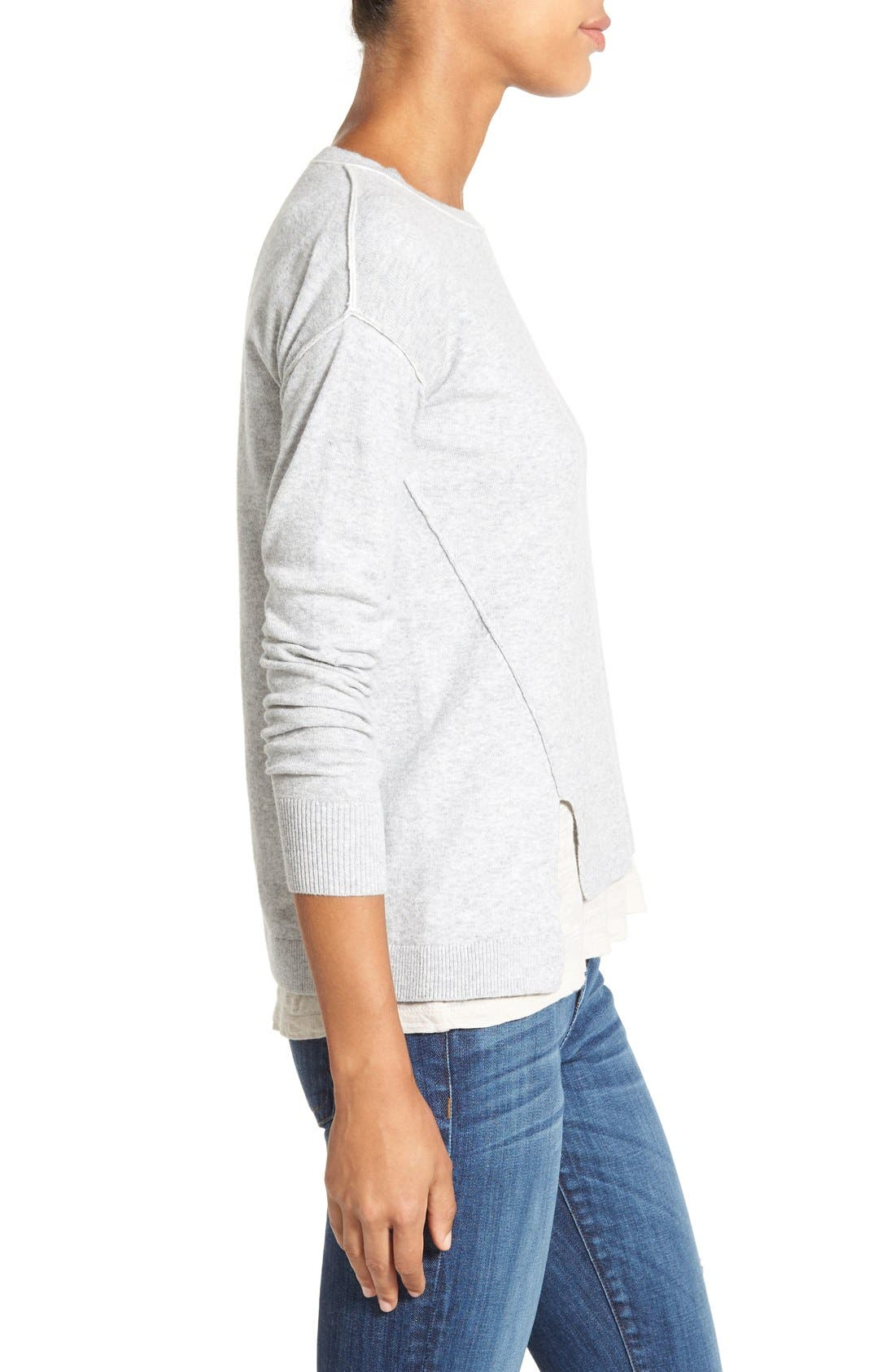 Alternate Image 3  - Caslon® Relaxed Long Sleeve Sweater (Regular & Petite)