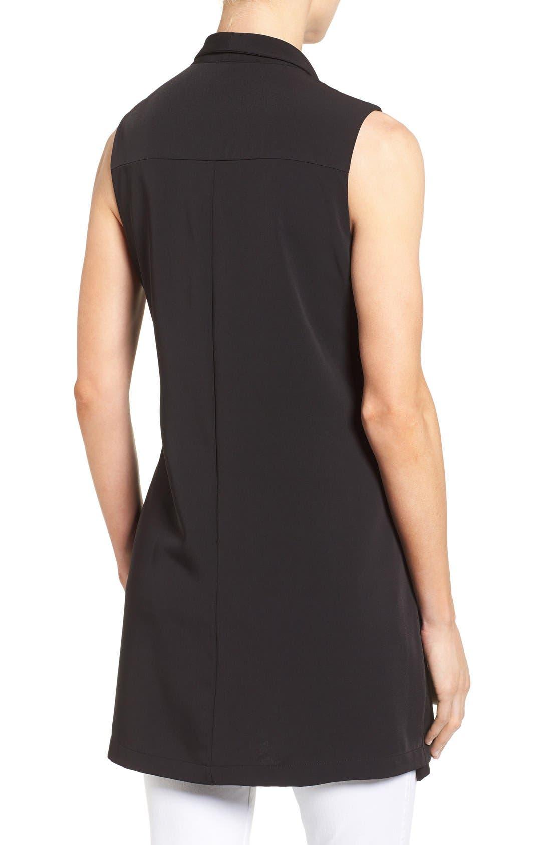 Alternate Image 2  - Pleione Long Drape Front Vest