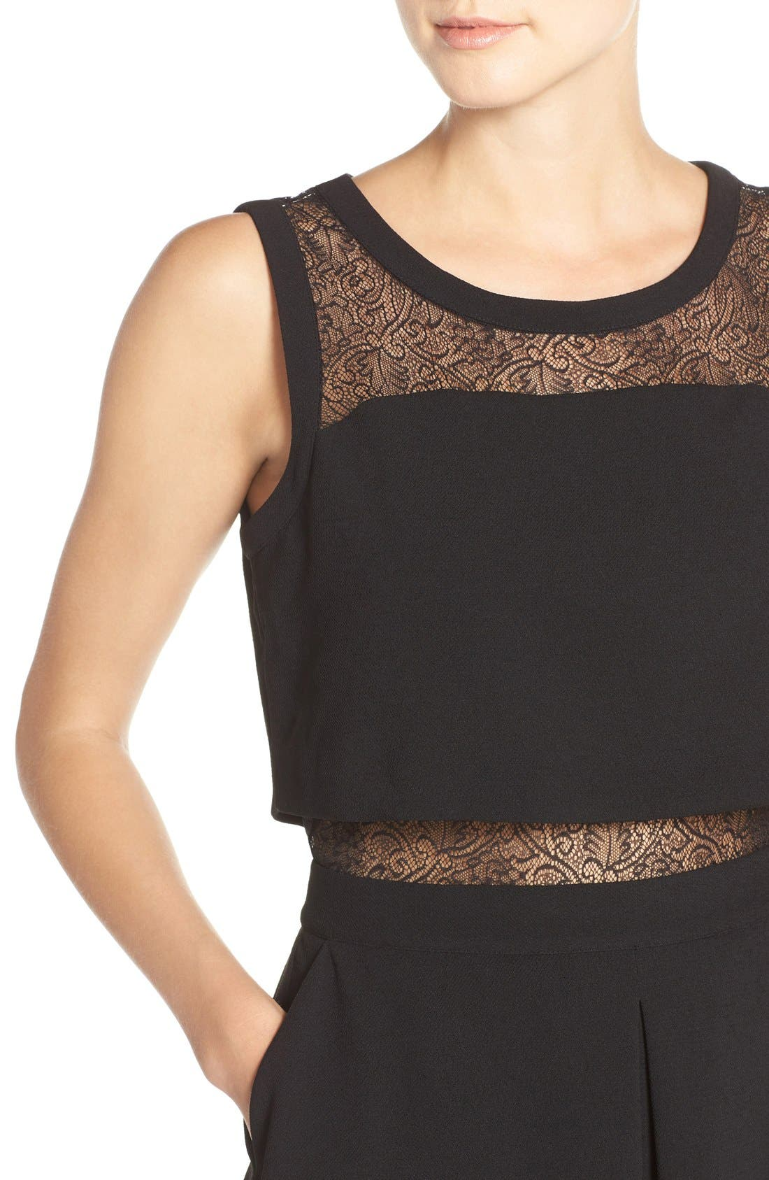 Alternate Image 4  - Chelsea28 Lace Inset Two-Piece Dress