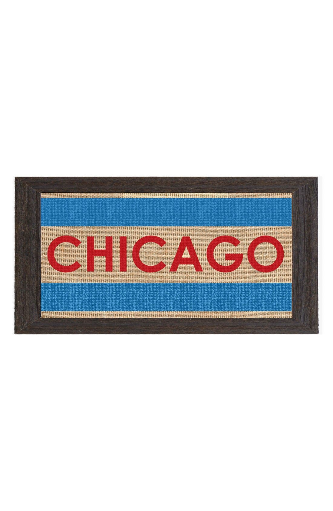 Alternate Image 1 Selected - Fiber and Water 'Chicago Flag' Burlap & Driftwood Wall Art