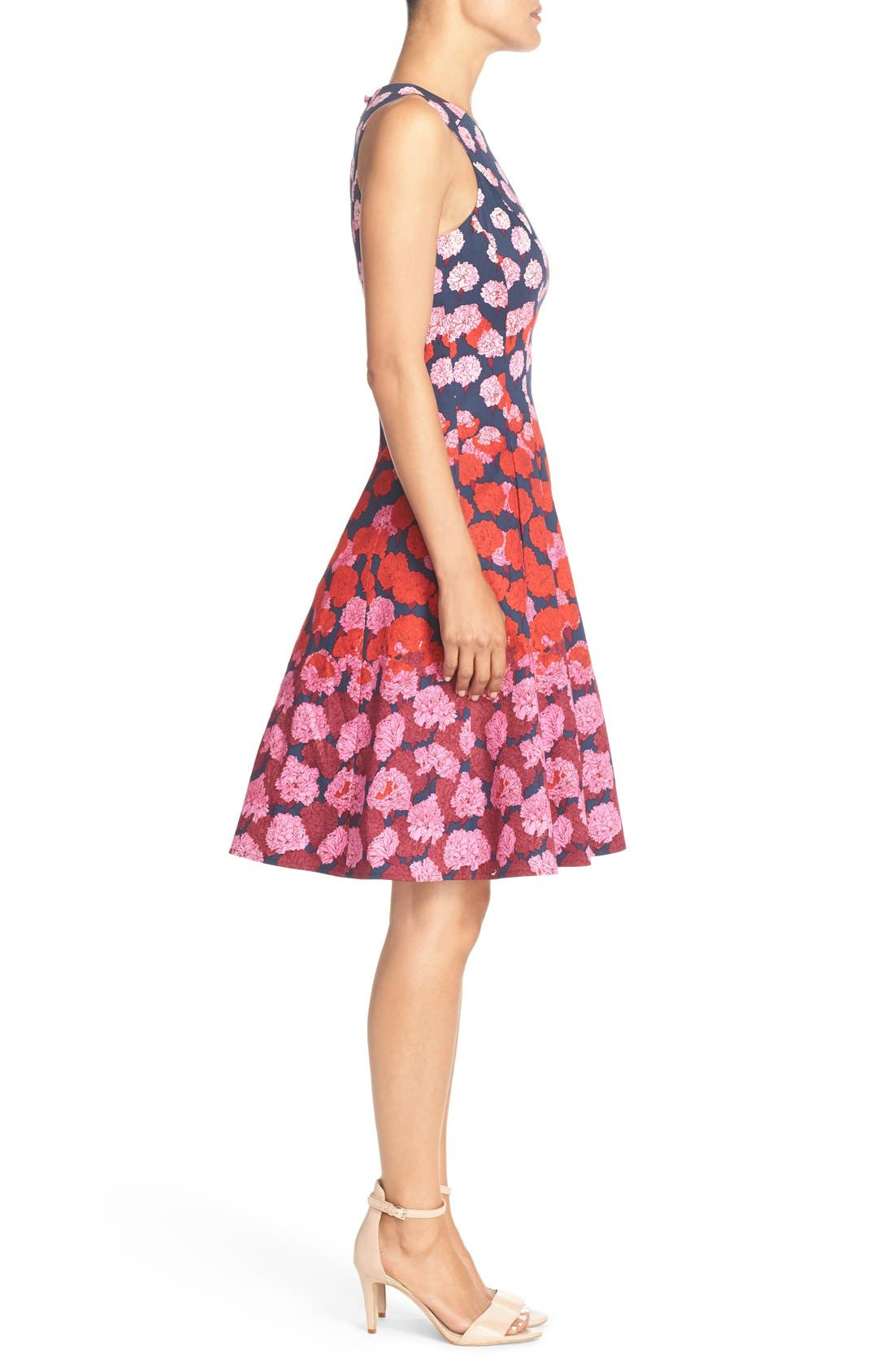 Alternate Image 3  - Maggy London Floral Print Fit & Flare Dress (Regular & Petite)