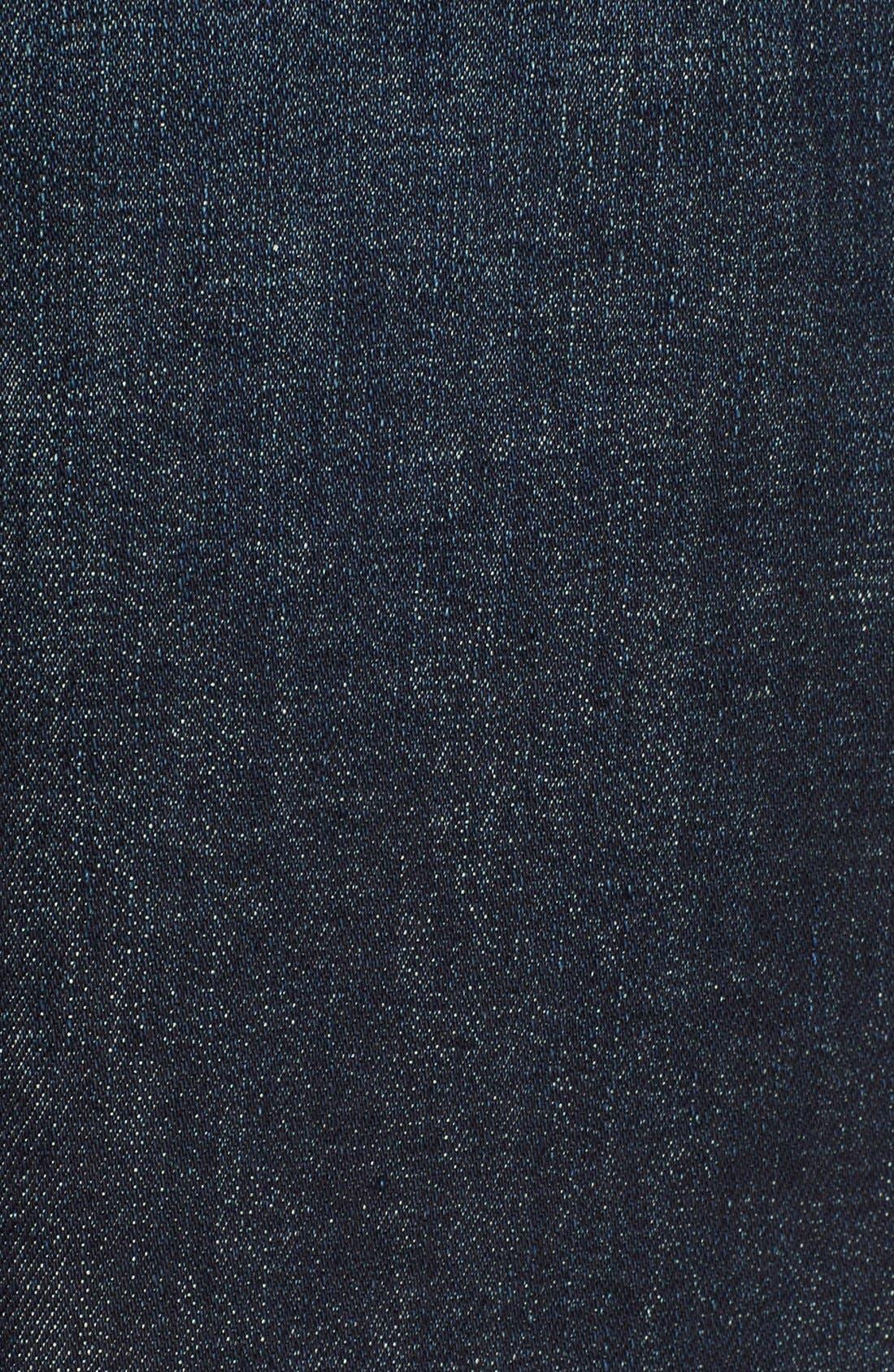 Alternate Image 5  - FRAME High Rise Denim Miniskirt (Catamaran)