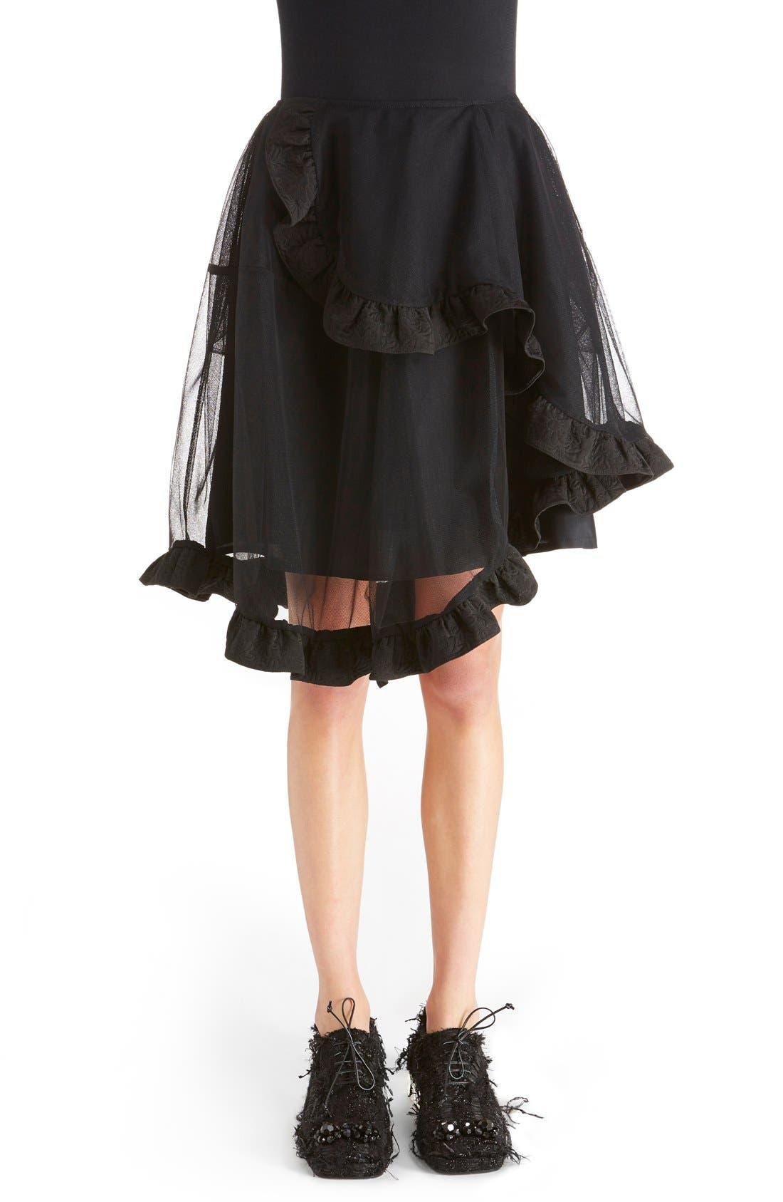 Main Image - Simone Rocha Brocade Trim Tulle Skirt