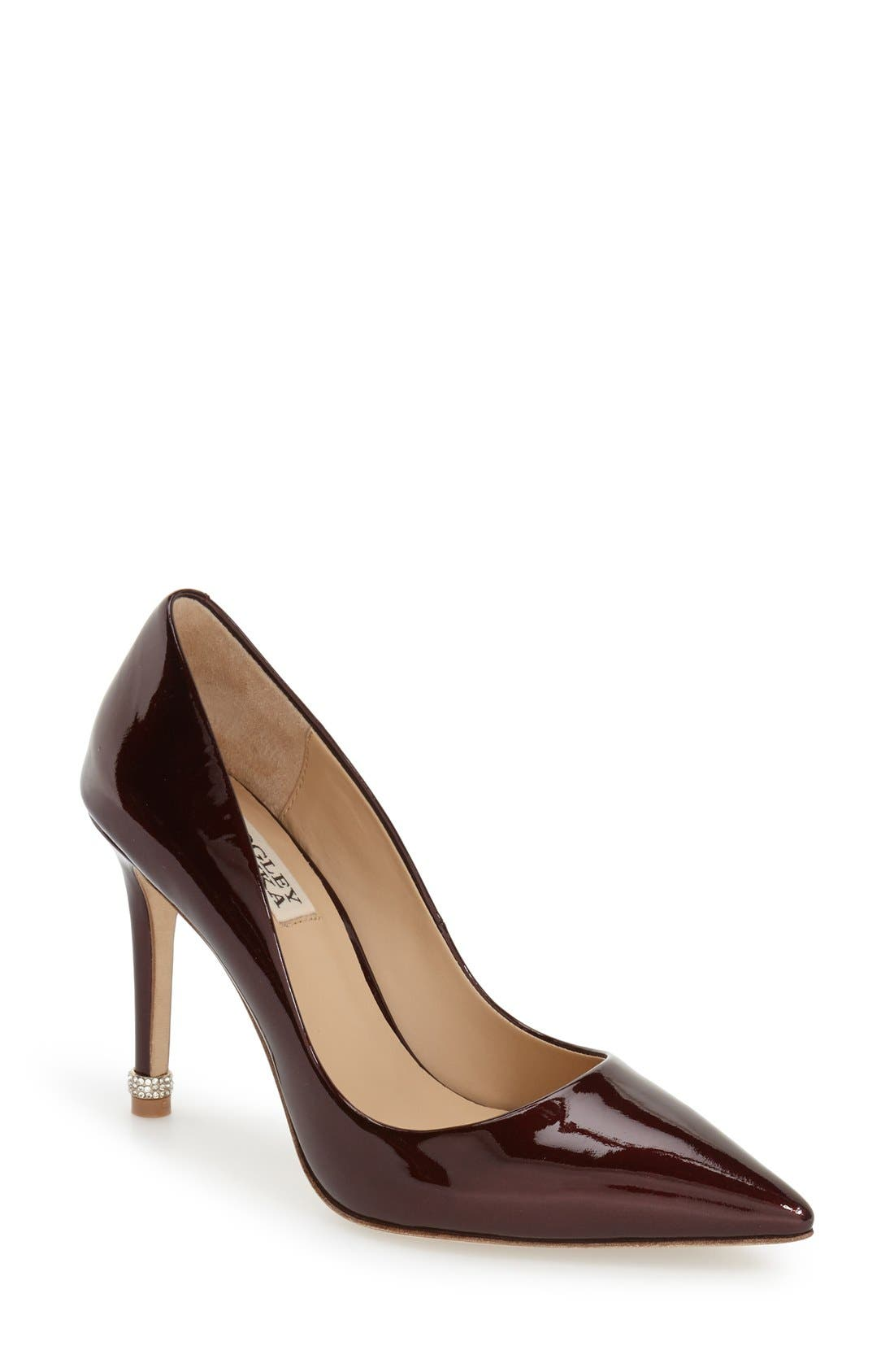 Alternate Image 1 Selected - Badgley Mischka 'Noelle' Pointy Toe Pump (Women)