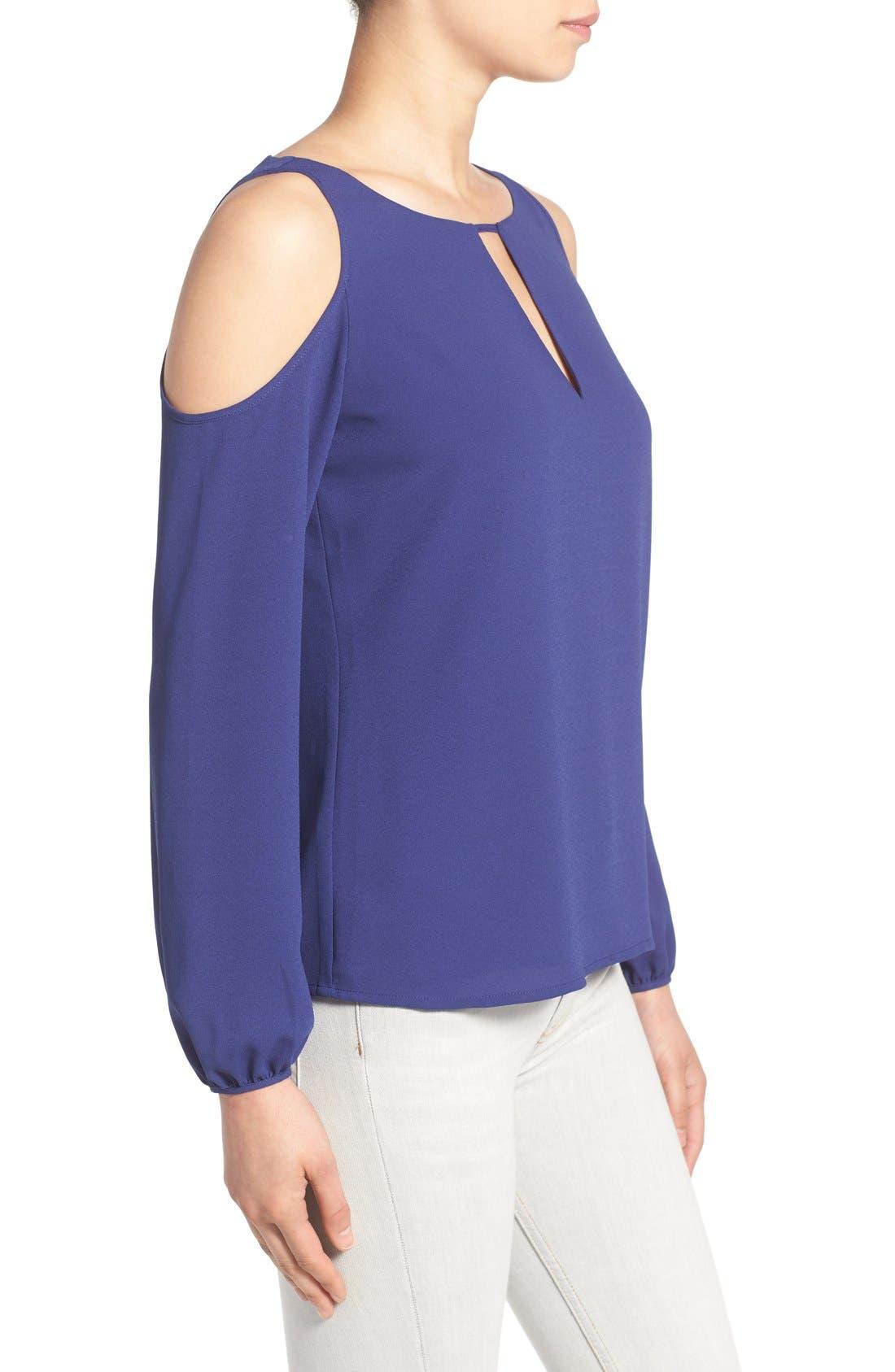 Alternate Image 3  - cooper & ella 'Leslie' Cutout Cold Shoulder Blouse