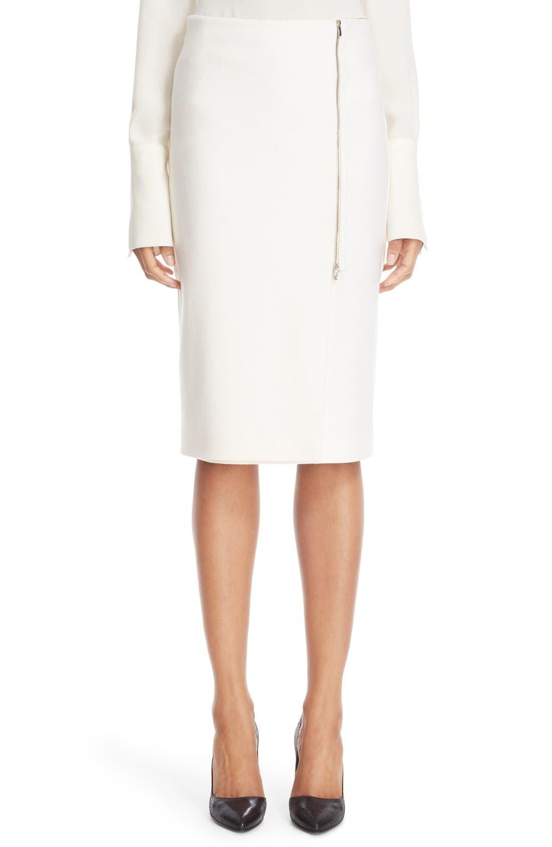 Main Image - Max Mara 'Visita' Wool Jersey Pencil Skirt