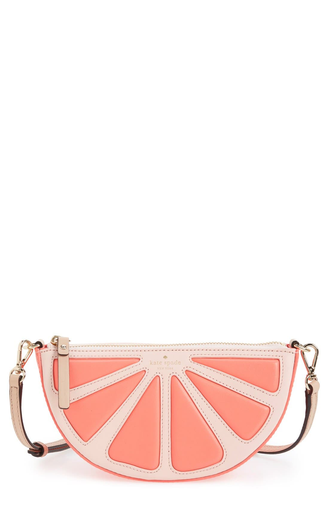 Alternate Image 1 Selected - kate spade new york 'flights of fancy' grapefruit crossbody bag