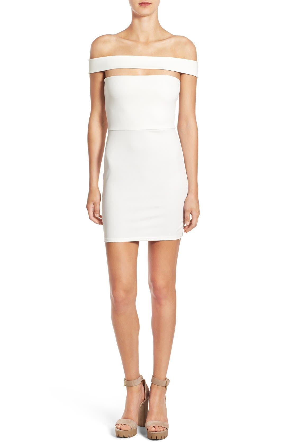 Alternate Image 1 Selected - Missguided Cutout Off the Shoulder Body-Con Dress