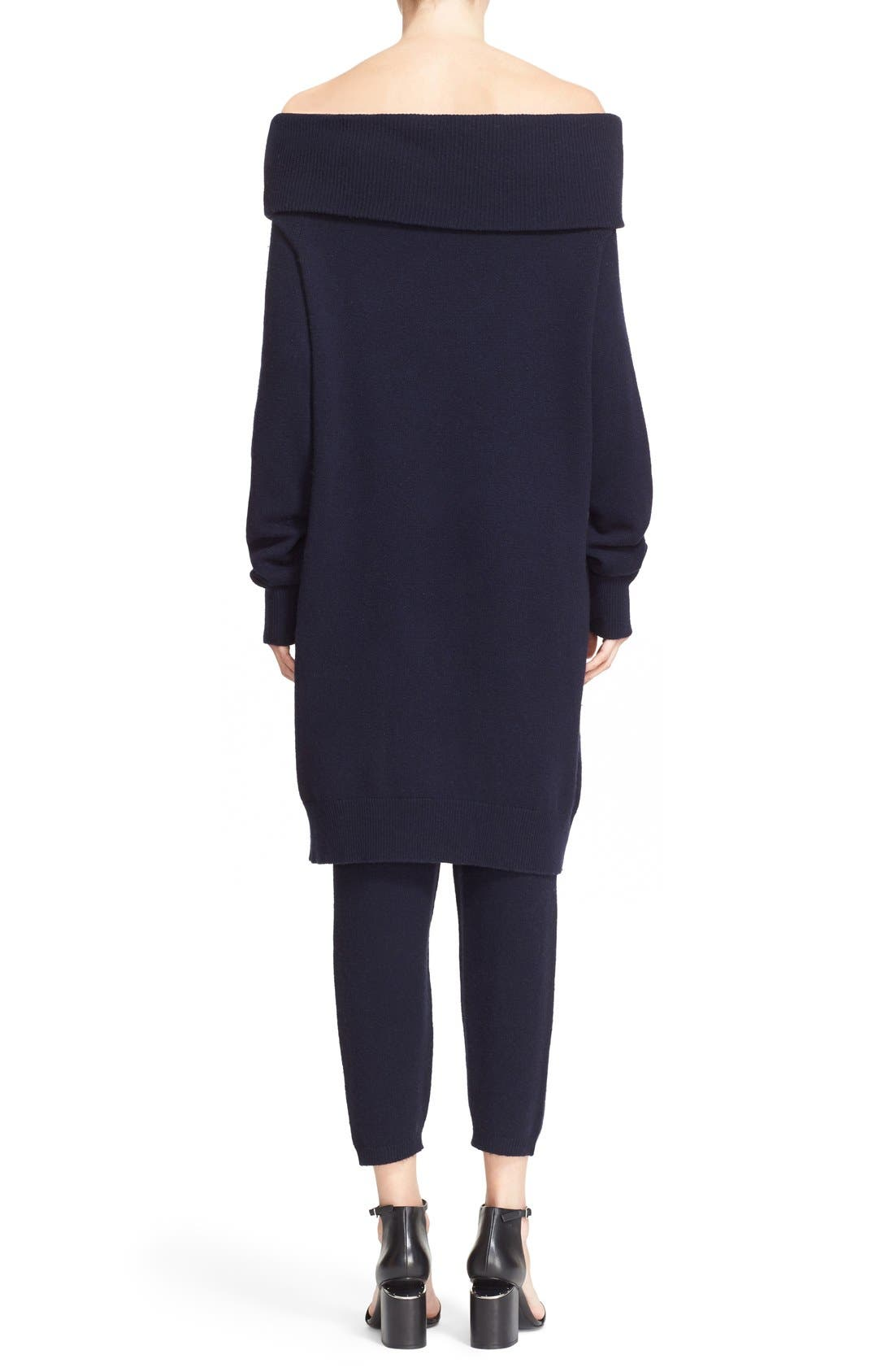 Alternate Image 2  - T by Alexander Wang Wool & Cashmere Off the Shoulder Sweater