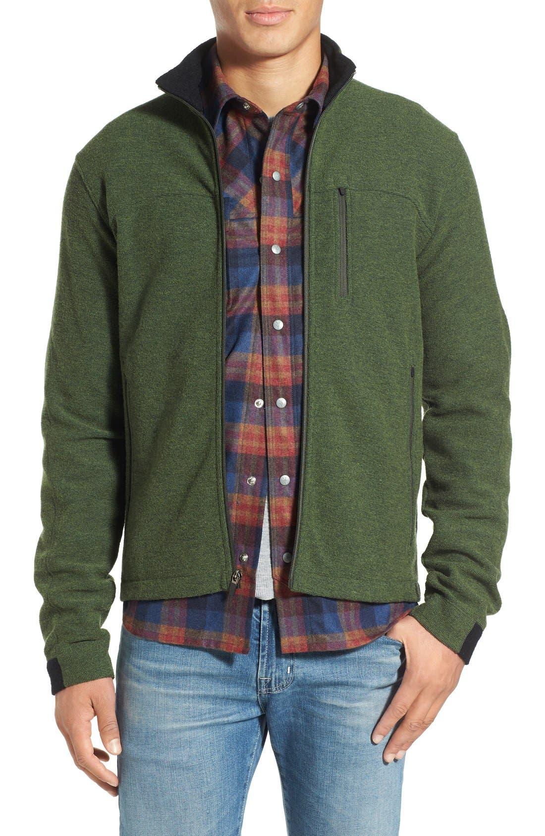IBEX 'Scout Jura' Merino Wool Blend Zip Jacket