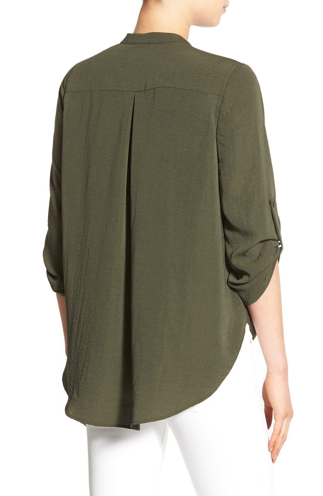 Alternate Image 2  - Lush Twist Front Woven Shirt