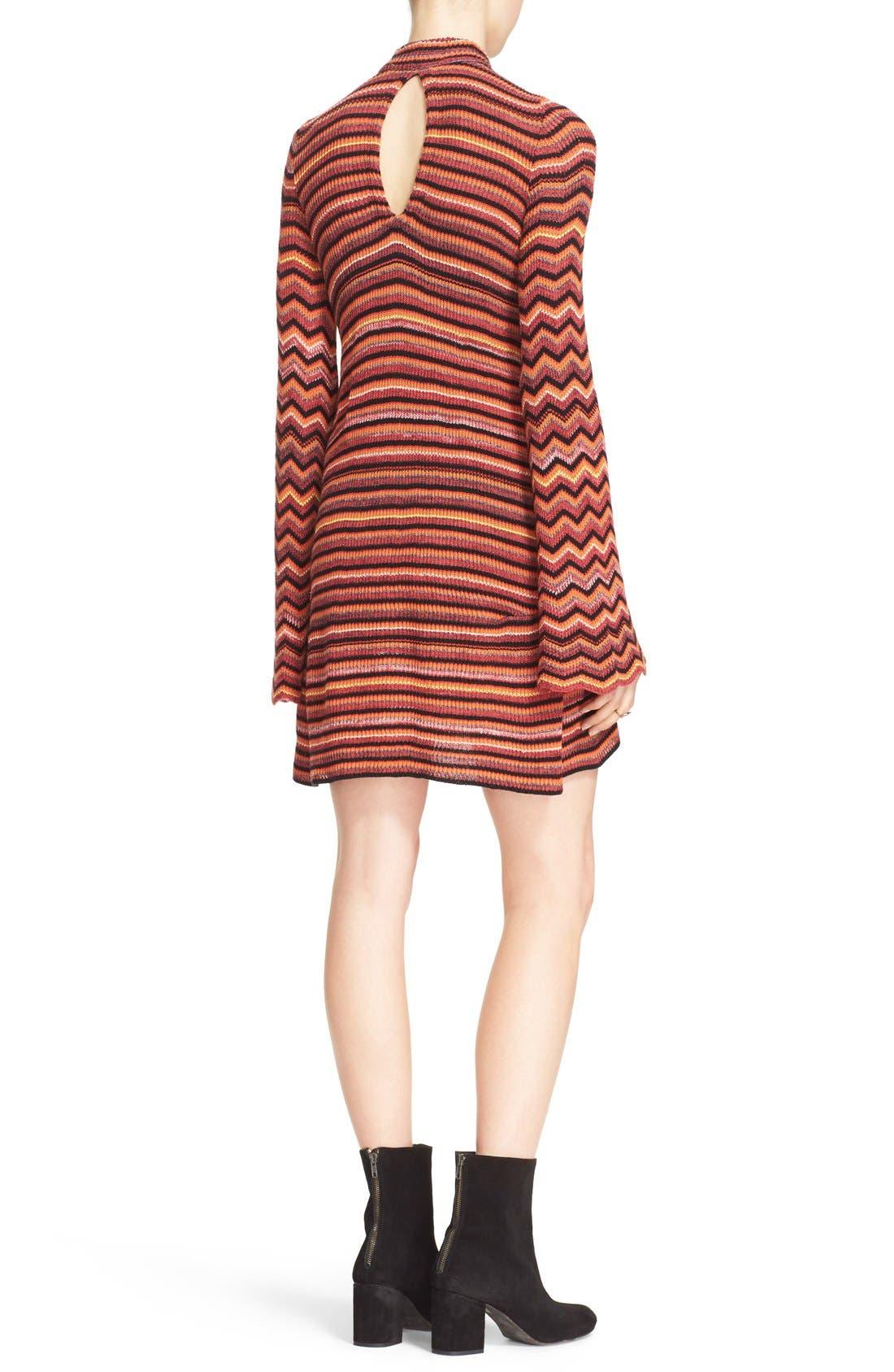 Alternate Image 2  - Free People Ziggy Bell Sleeve Stripe Sweater Dress