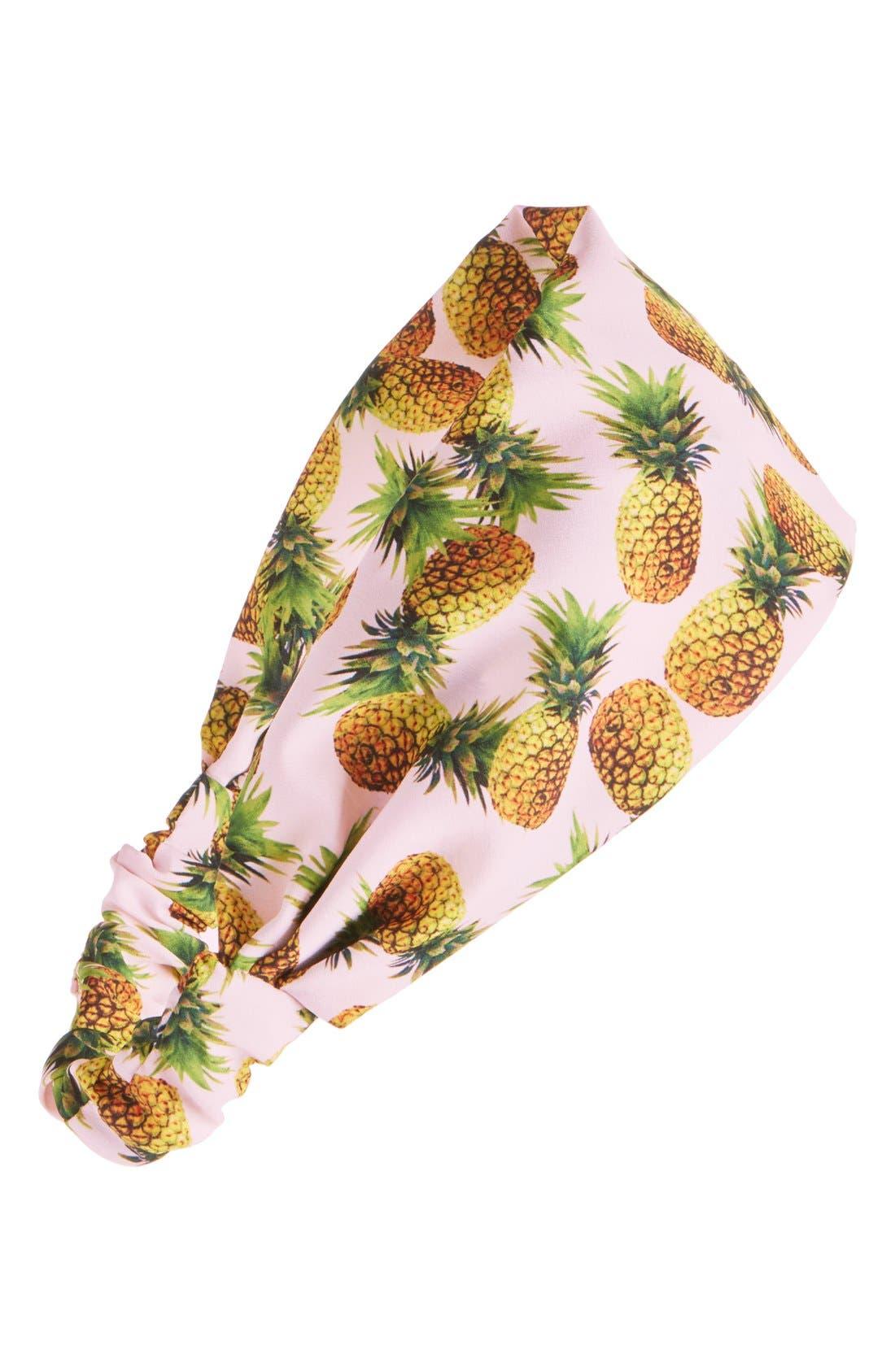 Alternate Image 1 Selected - Cara Pineapple Print Head Wrap