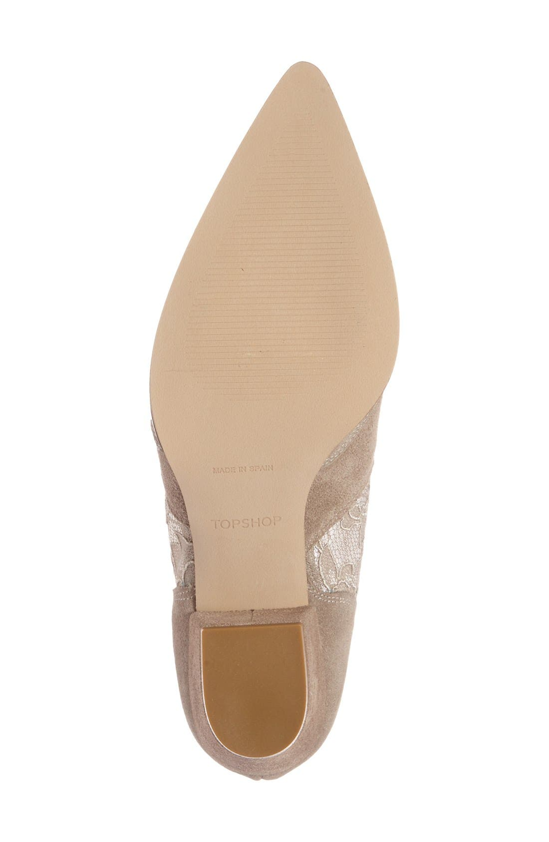 Alternate Image 4  - Topshop 'Alegra' Lace Pointy Toe Boot (Women)