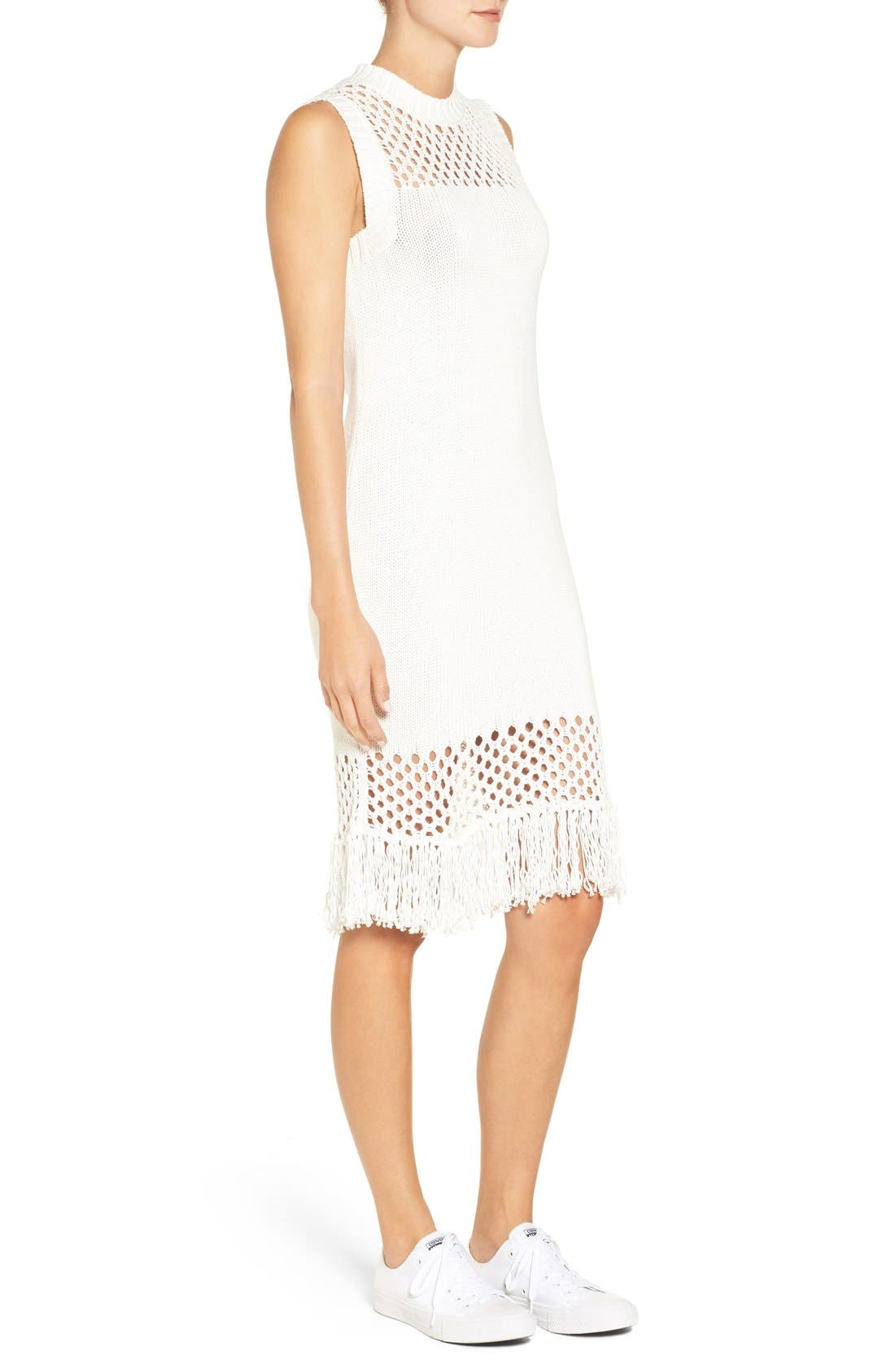 Alternate Image 3  - Amour Vert 'Helen' Illusion Knit Cotton Dress