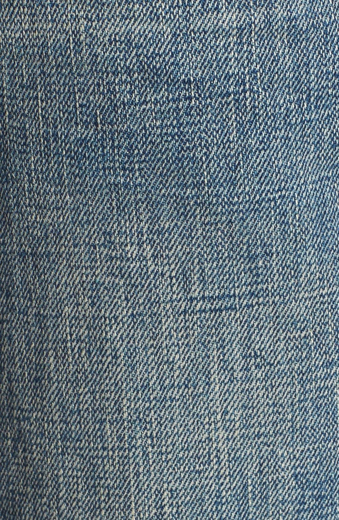 Alternate Image 3  - Tu es mon TRÉSOR Grosgrain Bow Embellished Jeans