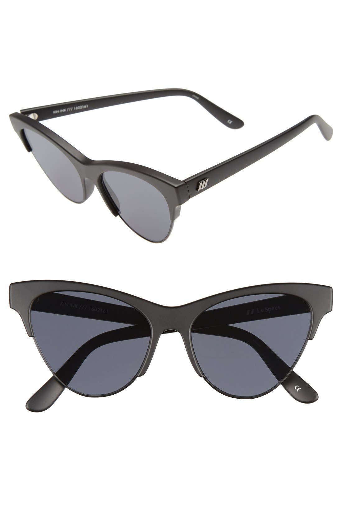 Le Specs 'Kin Ink' 55mm Sunglasses