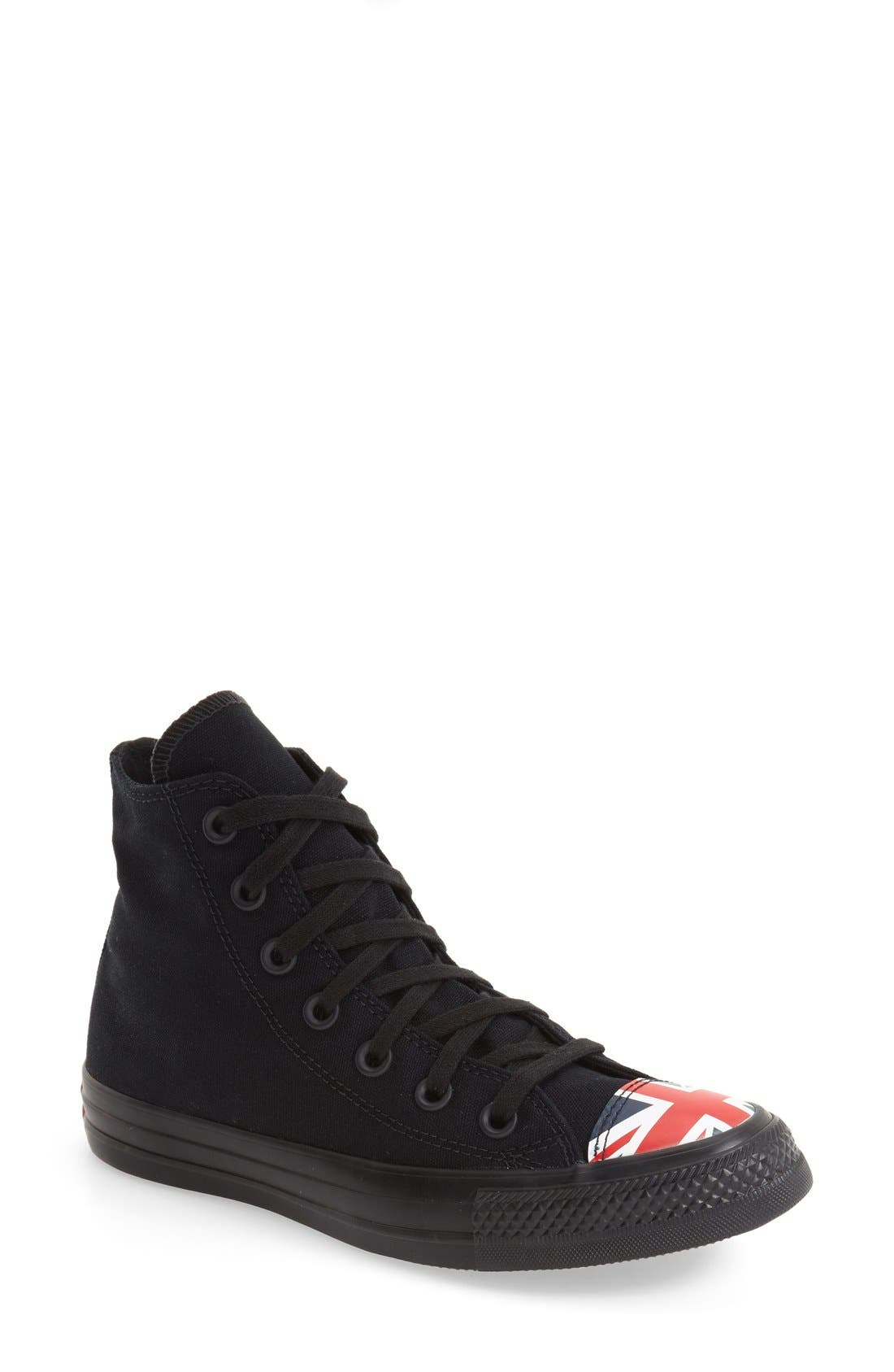 Main Image - Converse Chuck Taylor® All Star® Flag Cap Toe High Top Sneaker (Women)