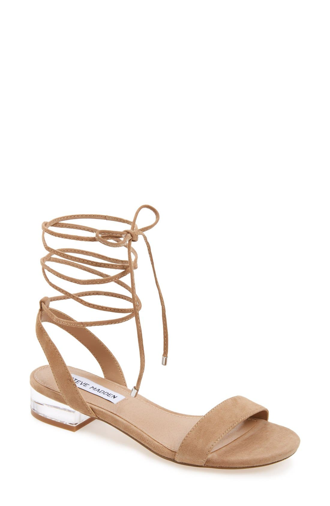 Alternate Image 1 Selected - Steve Madden 'Carolyn' Lace-Up Sandal (Women)