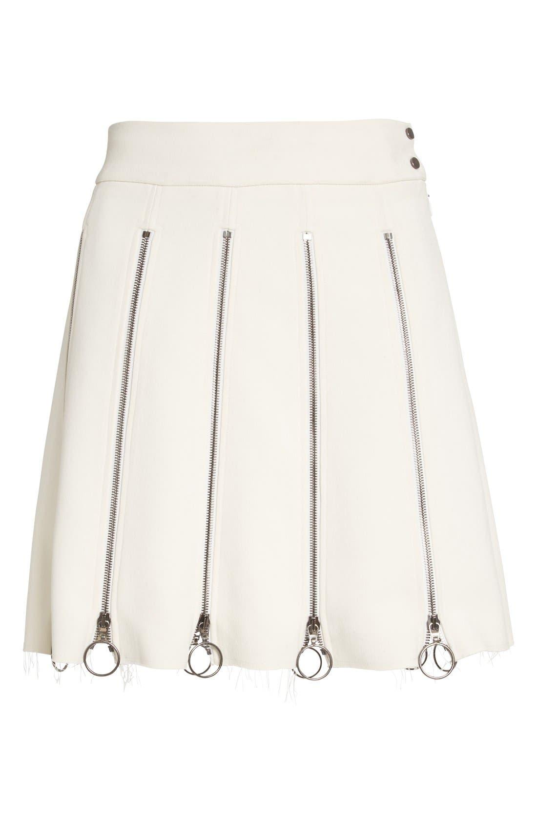 Alternate Image 4  - Etienne Deroeux 'Tania' Zip Detail Miniskirt
