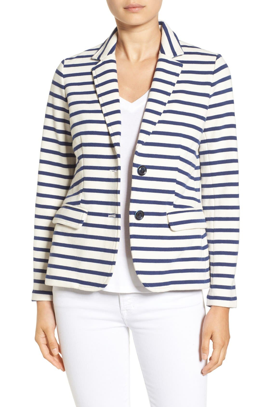 Alternate Image 1 Selected - Vineyard Vines Stripe Knit Blazer